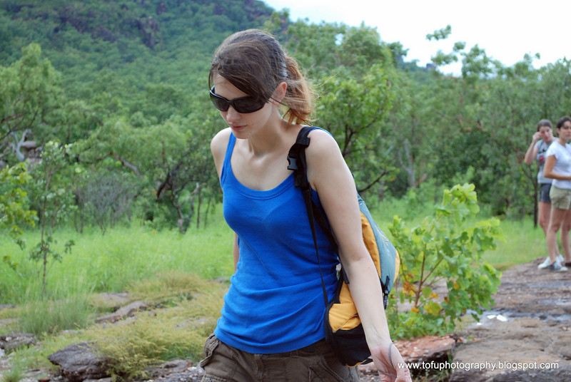 A trip to Nourlangie Rock in Kakadu National Park in March 2008. I went on an organized tour and this woman was on the bus.