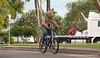 Old man cycling in Darwin, April 2009