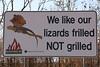 Sign near Fogg dam