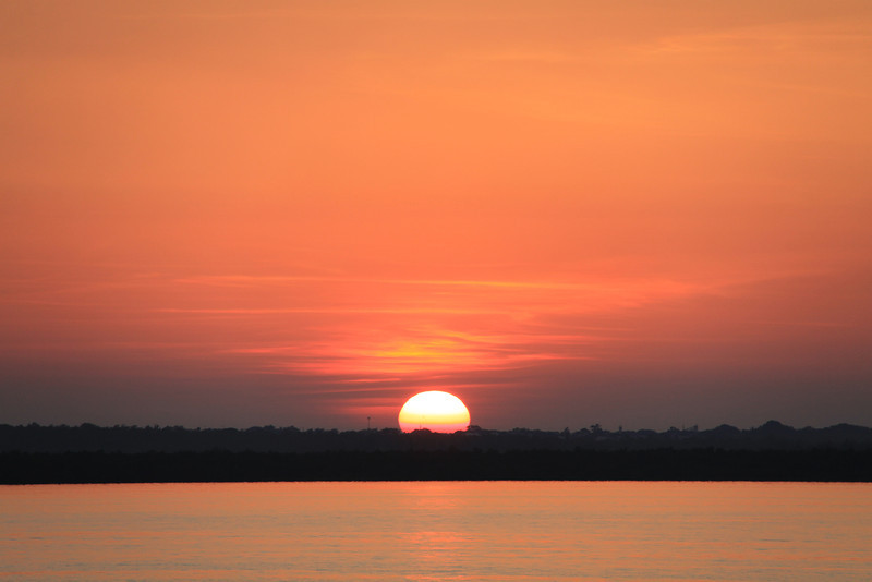 Sunrise over East Arm, July 2011