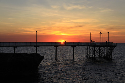 Sunset at Nightcliff jetty, May 2011
