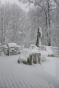 The Most Snow Accumulation was on this deck