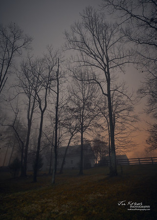 Night, Fog, Farm