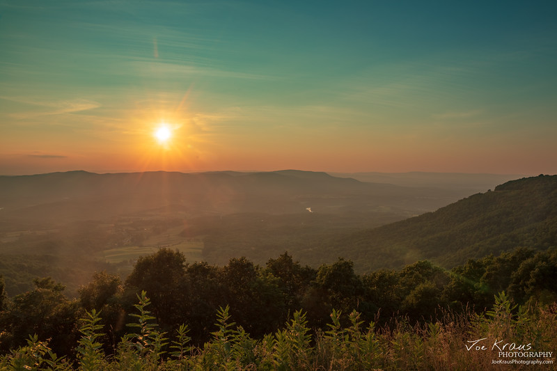 Skyline Drive HDR Sunset