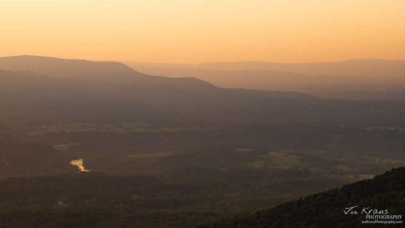 Steamy Sunset in Shenandoah