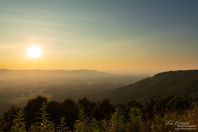 Skyline Drive Sunset