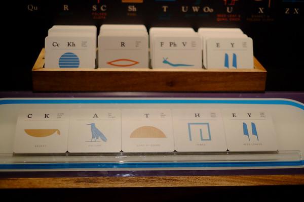Hieroglyphic picture sound cards