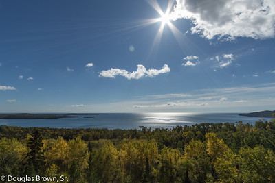 Sun over Lake Superior Bay