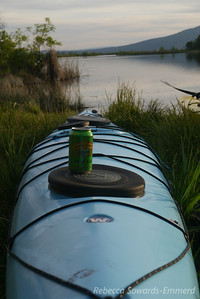 One advantage to kayak camping is being able to drag a bag of cold goodness along.
