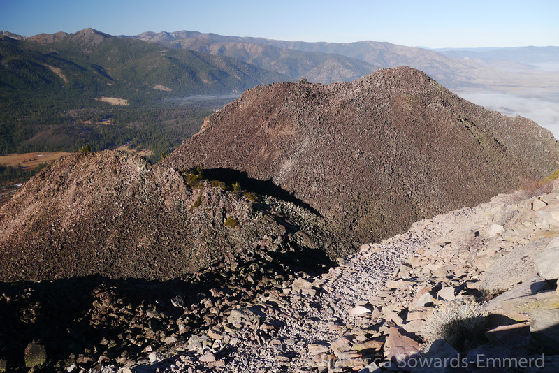 View of the top of black butte as we climb the highest point.