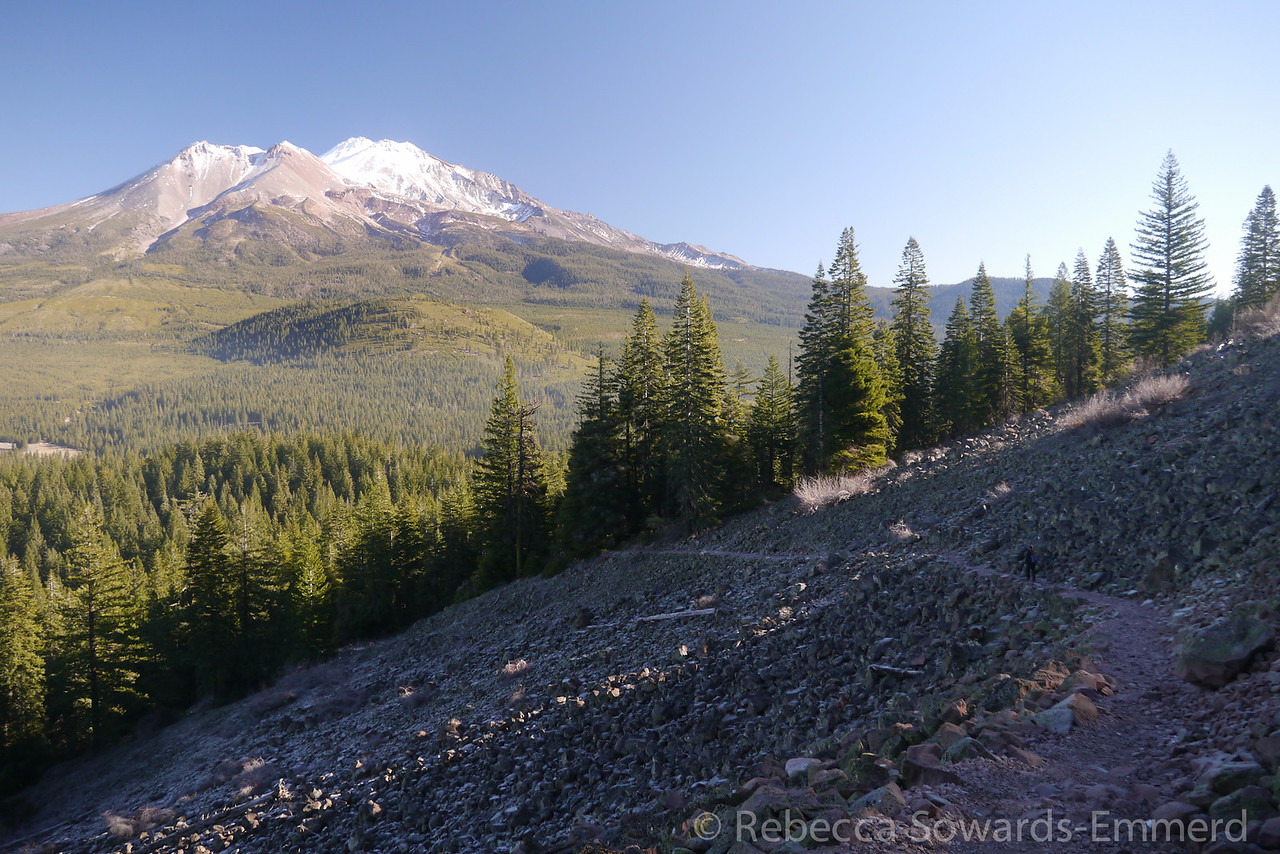 Shasta and the Black Butte trail towards the bottom.