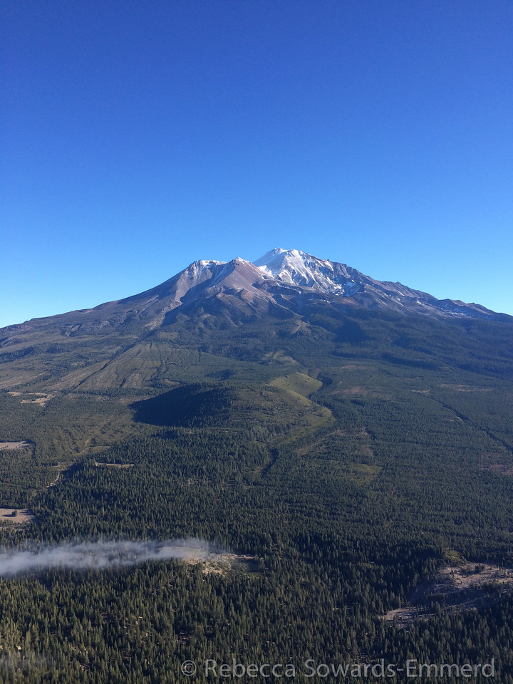 Mt Shasta. Looks more like August than December.