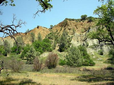 Bluffs behind camp