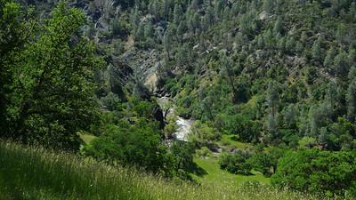 Cache creek rapids far below.