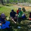 In camp - hey Barbara, nice floaties. :)