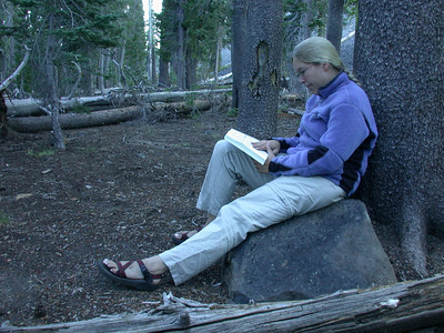 Reading in camp