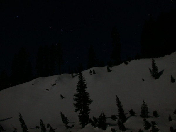 Orion over the ridge