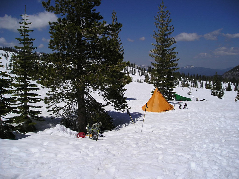 Camp<br /> <br /> my bivy platform, the hex, and a Europa