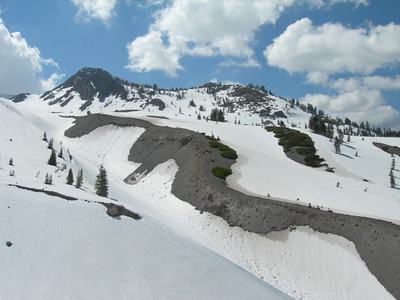 Crescent Crater and snowmelt