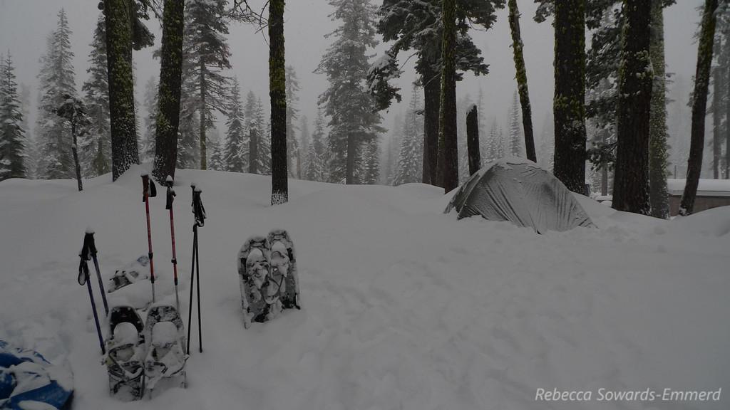 Camp, already dug out once.