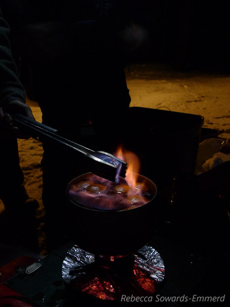 And, of course, everything is better over camp stove!