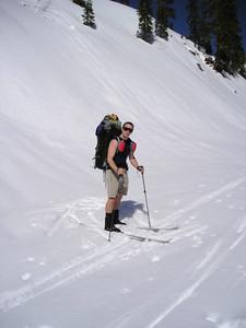 David in his summer skiwear