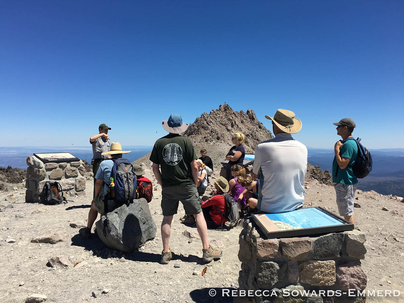 Ranger geology talk on the summit, thanks!