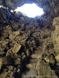 Stairs out of the cave - this is the extent of 'developed' in a cave.