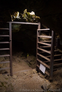 When the bats are around they close up the caves.