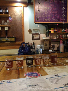 The lovely lineup of brews at the Dunsmuir Brewing Company. Great stop in this small little town.