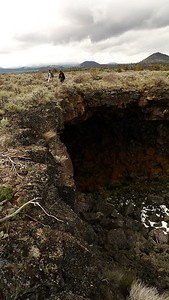 The terrain here is amazing - you'll be walking through flat scrubbrush land and suddenly these enormous collapse trenches appear leading into lava tubes.