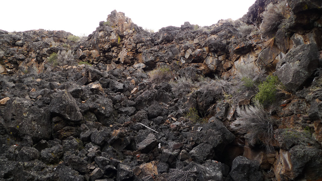 Lava talus - lots of scrambling through this stuff. Wheee.