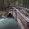 Bridge over the high-running creek