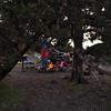 Greg, David, Paige enjoying our campfire