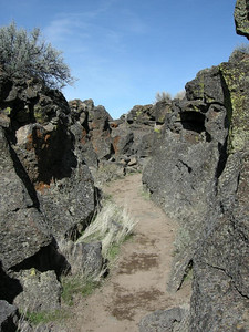 The Modocs held off a large Cavalry by staying entrenched in this lava field