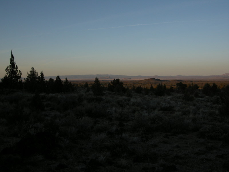 Sunset at Lava Beds