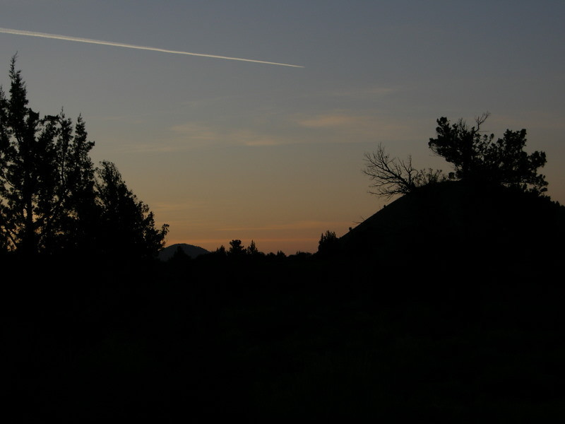 Contrail over Schonchin Butte