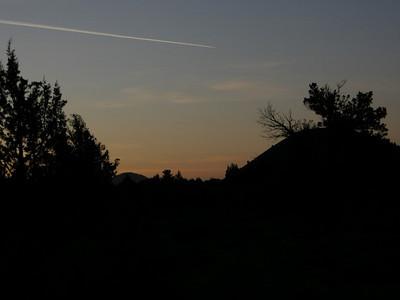 Contrail over Schonchin Butte
