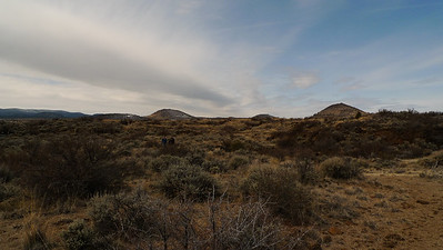 Above Ground at Lava Beds. Lots of craters and buttes.