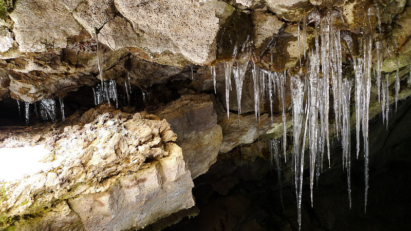 Next we visited a cave outside of the park that we've visited many times. There were amazing ice formations this time. I've never seen this cave look like this. Awesome!