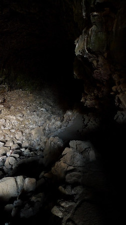 Without flash. Time to turn on the headlamp. This cave has a path/stairs. Others don't. That's the fun of lava beds - playing in the developed caves AND the wild caves.