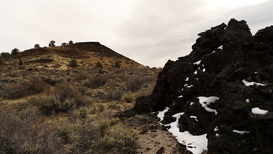 After cutting off the trail and dodging lava flows we're almost near the top.
