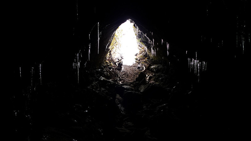 Exit end. Still a lot of ice down here (reflections are all ice)