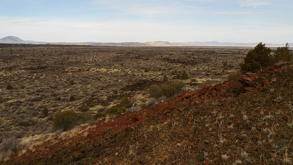 Looking back down on the terrain we just walked through. The trail is easy, but the last ~1/2 mile to the actual top involves navigating around lava flows and collapses.