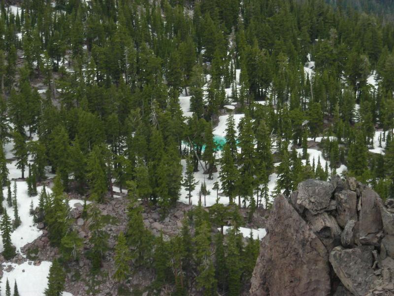 Turquoise snowmelt lake