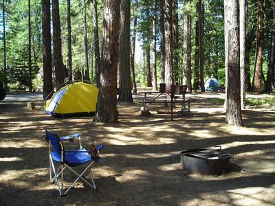 Campsite along Hat Creek