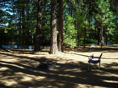 Campsite along Hat Creek