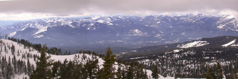 Panorama from top of Grey Butte