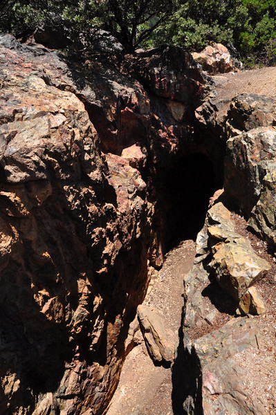 Side trip off the trail - old mine tunnels