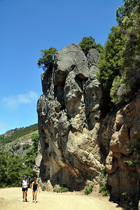 Rock formation - some climbers were here on the hike down.